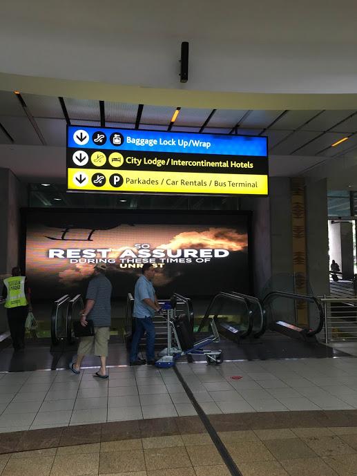 Sign to bus terminal